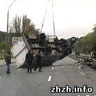 Происшествия: На трассе Киев-Житомир перевернулся грузовик с мороженной рыбой. ФОТО