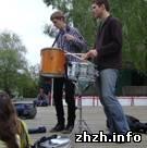 Происшествия: В центре Житомира гремели барабаны, и звучал саксофон. ФОТО