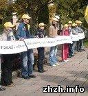Политика: В Житомире прошла акция против русификации госслужбы. ФОТО
