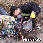 Ученики экологического лицея убрали территорию Селецкого озера в Житомире. ФОТО