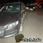 В Житомире ночью Volkswagen врезался в Audi. ФОТО