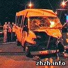 У Житомирі зіткнулися два пасажирські мікроавтобуси. ФОТО