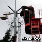В Житомире проводят работы по освещению дворов в жилых кварталах