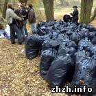 В Житомирском парке активисты собрали почти 2 тонны мусора. ФОТО