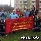 Комсомольцы Житомира посадили березы и покрасили памятник Ленину. ФОТО