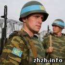 Армия: Очередная группа житомирских миротворцев-десантников уехала в Косово