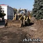Житомир: В Житомире возобновили работу по реконструкции сквера на площади Соборной. ФОТО