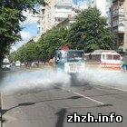 Житомир: В Житомир вернулась традиция поливать водой главные улицы города. ФОТО