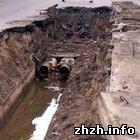 В нескольких домах Житомира прорвало трубы отопления