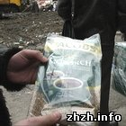 В Житомире утилизировали контрафактные диски, носки и кофе. ФОТО