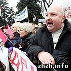Экономика: Предприниматели, работающие на рынках Житомира приняли участие в акции протеста