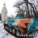 Житомир подарил городу Николаев БМП в качестве памятника. ФОТО