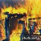 Происшествия: На Житомирщине загорелась 35-метровая водонапорная башня