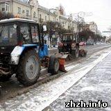 В выходные Житомир засыпало снегом. ФОТО