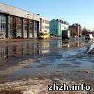 ЧП. В Бердичеве затопило Привокзальный рынок