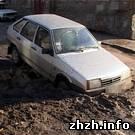 Происшествия: Водитель «Лады» провалился в яму которую забыли закопать коммунальщики