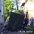 В жилом доме Бердичева обвалился балкон вместе с хозяйкой. ФОТО