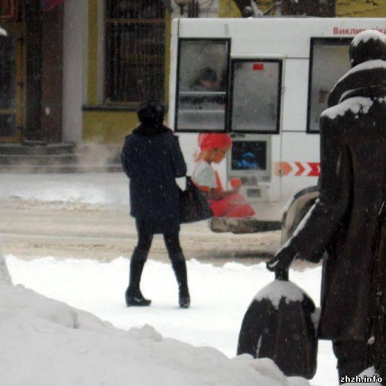 Первый снег в Житомире